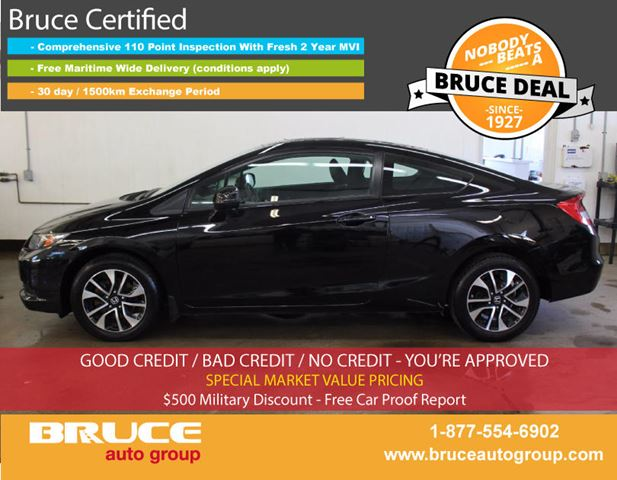 2013 HONDA CIVIC EX 1.8L 4 CYL I-VTEC 5 SPD MANUAL FWD 2D COUPE in Middleton, Nova Scotia