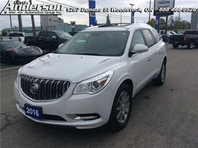 2016 BUICK ENCLAVE Leather - Leather Seats in Woodstock, Ontario