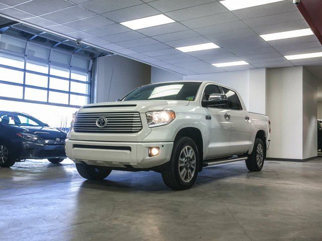 2015 Toyota Tundra Platinum, NAVIGATION, LEATHER, HEATED & COOLED SEATS, SUNROOF, TOUCH SCREEN, BACK UP CAMERA, ALLOY RIMS, BLUETOOTH, 5.7L V8, 4X4, CREWMAX in Edmonton, Alberta