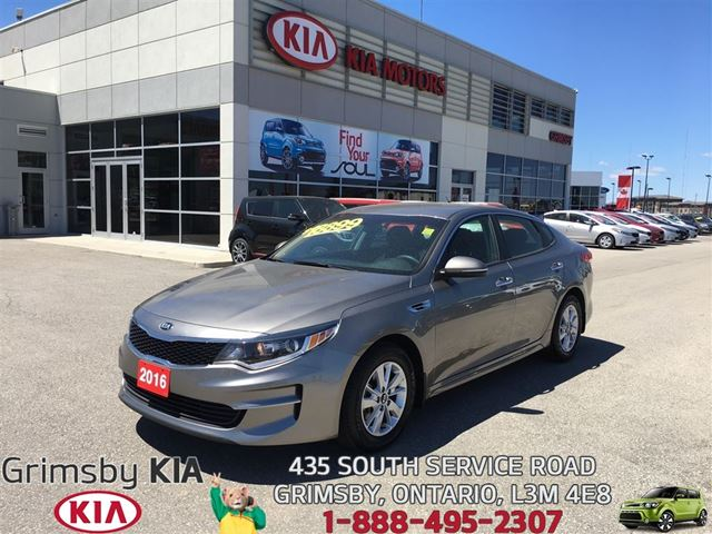 2016 KIA Optima LX...LOW KMS AND FUEL EFFICIENT!!! in Grimsby, Ontario
