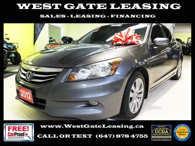 2012 HONDA Accord EX-L V6  LEATHER  SUNROOF   in Vaughan, Ontario