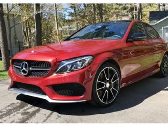 2016 mercedes benz c class 450 amg 4matic premium active for Red mercedes benz power wheels