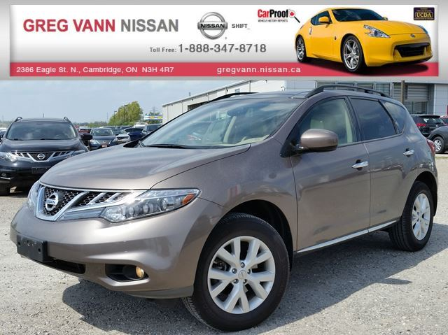 2013 NISSAN MURANO SL AWD w/all leather,rear cam,climate control,heated seats in Cambridge, Ontario