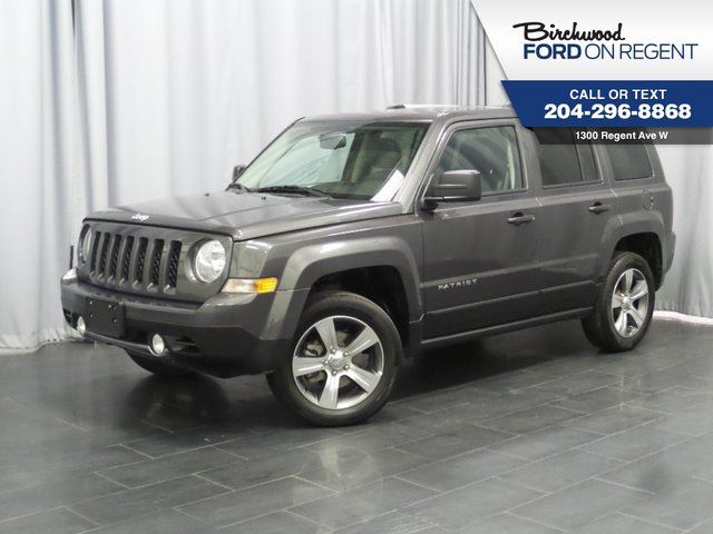 2016 JEEP PATRIOT High Altitude 4WD *Leather/Moonroof/Heated Seats* in Winnipeg, Manitoba