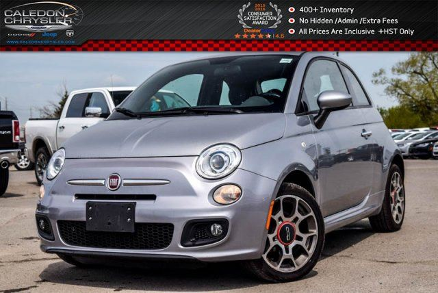 2015 Fiat 500 Sport BLUE ME Handsfree Communication Pwr windows Pwr Locks Keyless Entry 16Alloy Rims in Bolton, Ontario