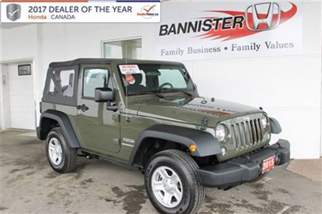 2015 Jeep Wrangler Sport in Vernon, British Columbia