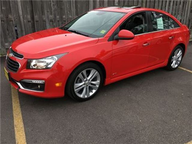 2015 CHEVROLET CRUZE 2LT RS, Automatic, Leather, Only 44,000km in Burlington, Ontario