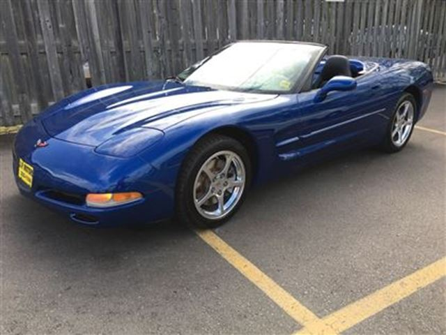 2002 CHEVROLET CORVETTE Automatic, Leather, Convertible, Only 94,000km in Burlington, Ontario