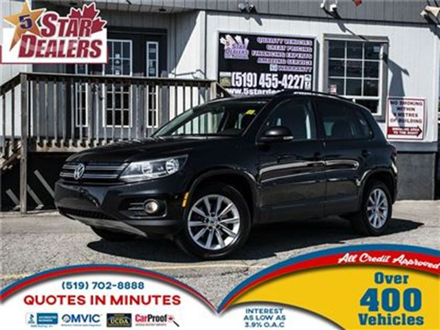 2013 VOLKSWAGEN TIGUAN COMFORTLINE   AWD   LEATHER   SUNROOF in London, Ontario
