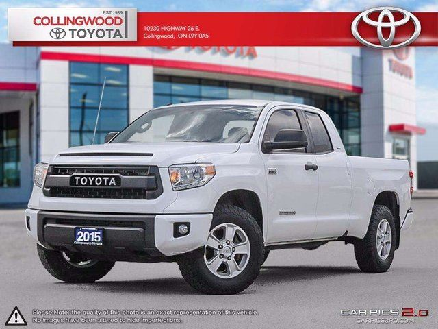2015 Toyota Tundra SR5 PLUS 4X4 DOUBLE CAB 5.7L ALLOYS in Collingwood, Ontario