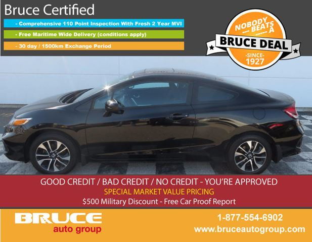 2014 HONDA CIVIC EX 1.8L 4 CYL I-VTEC 5 SPD MANUAL FWD 2D COUPE in Middleton, Nova Scotia