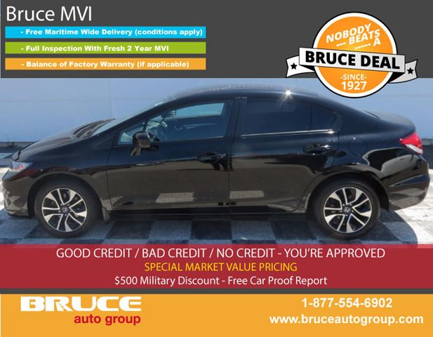 2015 HONDA CIVIC EX 1.8L 4 CYL I-VTEC CVT FWD 4D SEDAN in Middleton, Nova Scotia