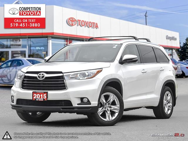 2015 TOYOTA HIGHLANDER Limited One Owner, No Accidents, Toyota Serviced in London, Ontario