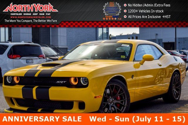 2017 Dodge Challenger New Car SRT Hellcat Sunroof Carbon Stripes Nappa Leather 20Bronze Alloys in Thornhill, Ontario