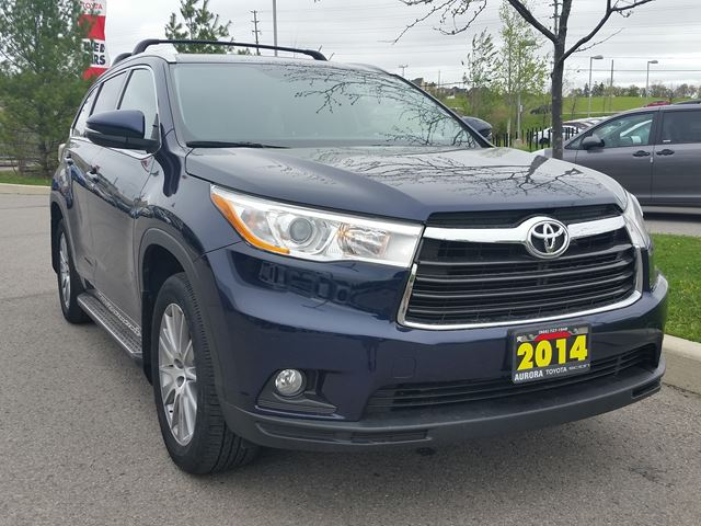 2014 toyota highlander xle aurora ontario car for sale 2782873. Black Bedroom Furniture Sets. Home Design Ideas