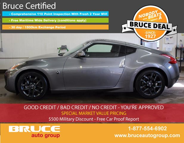 2017 NISSAN 370Z 3.7L 6 CYL 6 SPD MANUAL RWD 2D COUPE in Middleton, Nova Scotia
