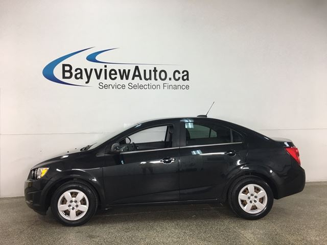 2015 CHEVROLET SONIC LT- 1.8L! REM START! TINT! HEATED SEATS! REV CAM! in Belleville, Ontario