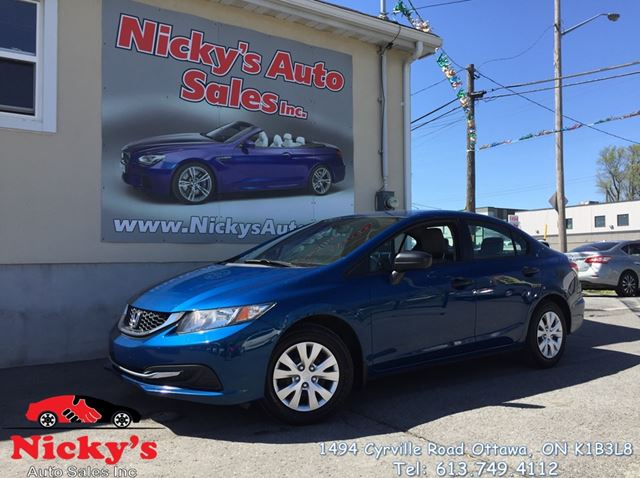 2015 HONDA CIVIC DX, GREAT VALUE! NO ACCIDENTS! $0 DOWN $74 BI-WEEKLY! in Ottawa, Ontario