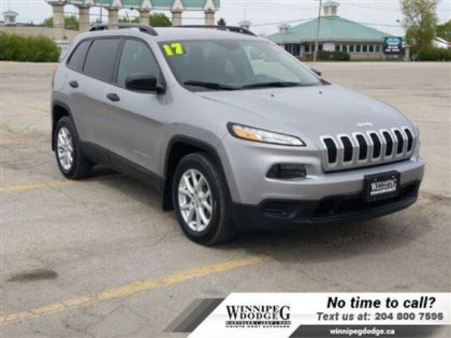 2017 Jeep Cherokee Sport w/Back-up Cam & Rem Start *Only 2600KM* in Winnipeg, Manitoba