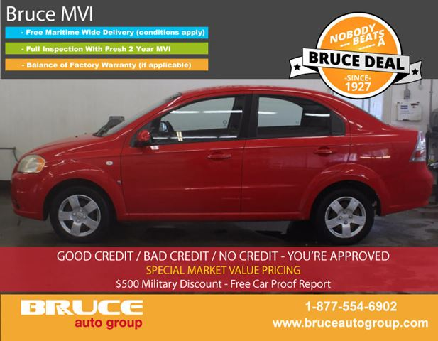 2007 CHEVROLET AVEO LS 1.6L 4 CYL AUTOMATIC FWD 4D SEDAN in Middleton, Nova Scotia