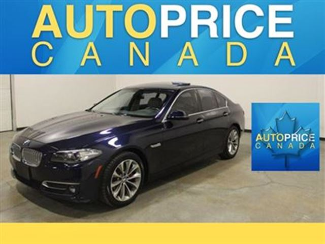 2014 BMW 5 Series xDrive NAVIGATION MOONROOF LEATHER in Mississauga, Ontario