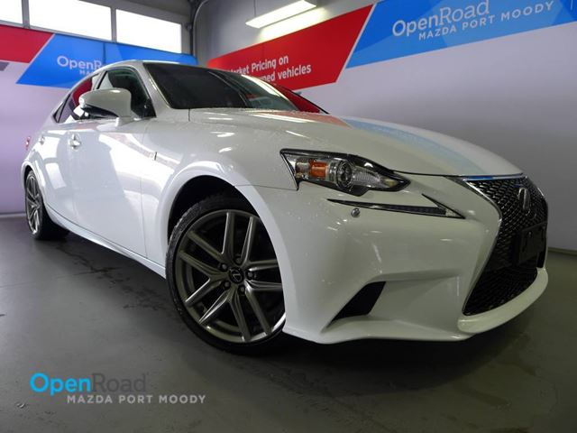 2014 Lexus IS 350 Fsport A/T AWD Loacal Bluetooth USB AUX Leather in Port Moody, British Columbia