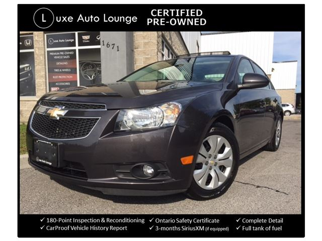 2014 Chevrolet Cruze 1LT - SUNROOF, PIONEER AUDIO, BACK-UP CAMERA, BLUETOOTH, FOG LIGHTS, LUXE CERTIFIED PRE-OWNED & LOADED !! in Orleans, Ontario
