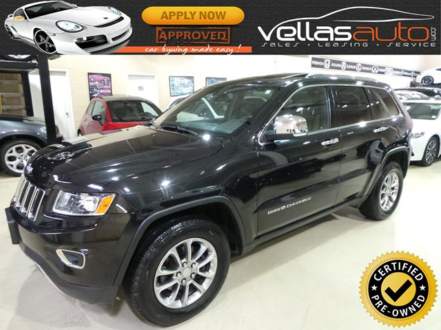 2014 Jeep Grand Cherokee Limited LIMITED| 4X4| SUNROOF| LEATHER| BLK ON BLK in Vaughan, Ontario