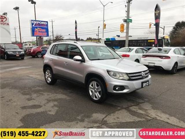 2012 VOLKSWAGEN TIGUAN COMFORTLINE   SUNROOF   LEATHER   HEATED SEATS in London, Ontario
