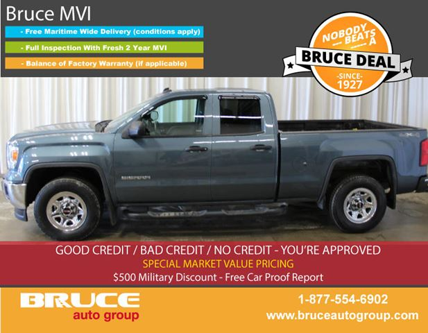 2014 GMC SIERRA 1500 WT 5.3L 8 CYL AUTOMATIC 4X4 EXTENDED CAB in Middleton, Nova Scotia