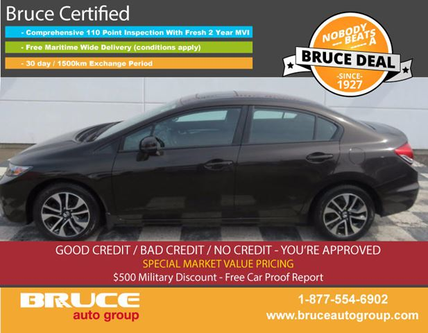 2013 Honda Civic EX 1.8L 4 CYL i-VTEC AUTOMATIC FWD 4D SEDAN in Middleton, Nova Scotia