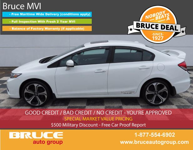 2014 Honda Civic SI 2.4L 4 CYL I-VTEC 6 SPD MANUAL FWD 4D SEDAN in Middleton, Nova Scotia