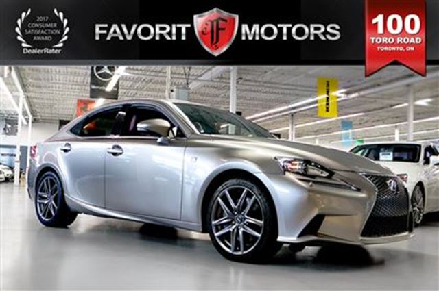 2014 LEXUS IS 350 F SPORT AWD   RED LTHR   NAV   BACK-UP CAM in Toronto, Ontario