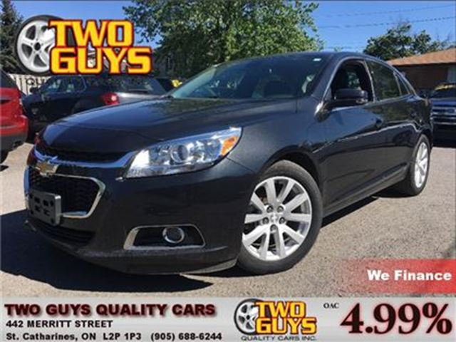 2015 CHEVROLET MALIBU 2LT 18 INCH ALLOYS] CLOTH/LEATHER SEATS] in St Catharines, Ontario