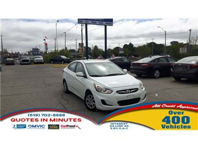 2014 HYUNDAI ACCENT GLS   ECONOMIC GAS SAVER   GREAT STARTER in London, Ontario