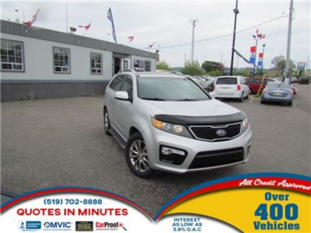 2013 KIA SORENTO SX   V6   AWD   LEATHER   ROOF   BACKUP CAM in London, Ontario