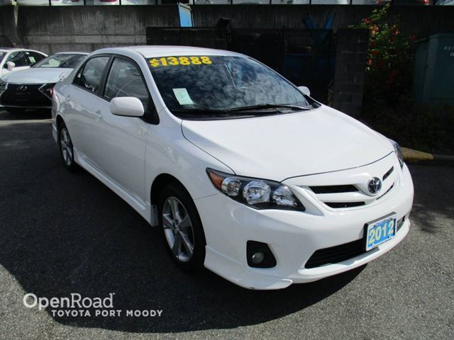 2012 Toyota Corolla S - Bluetooth, Air Conditioning, Keyless Entry in Port Moody, British Columbia