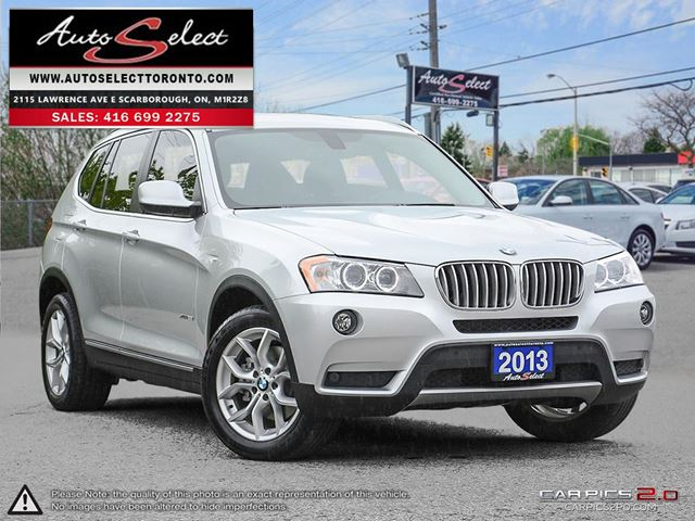 2013 BMW X3 xDrive28i AWD ONLY 57K! **PANORAMIC SUNROOF** CLEAN CARPROOF in Scarborough, Ontario