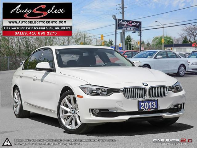2013 BMW 3 SERIES xDrive AWD ONLY 88K **CLEAN CARPROOF** MODERN PKG in Scarborough, Ontario