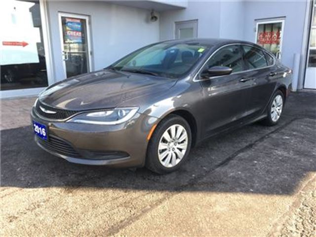 2016 CHRYSLER 200 LX GREAT ON FUEL!!! in Simcoe, Ontario