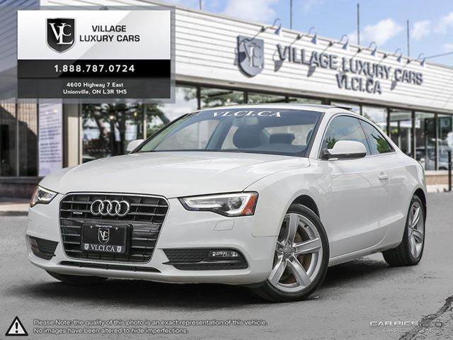 2014 AUDI A5 2.0 Komfort KOMFORT | NEW CAR TRADE IN | ONE OWNER | CLEAN CARPROOF in Markham, Ontario