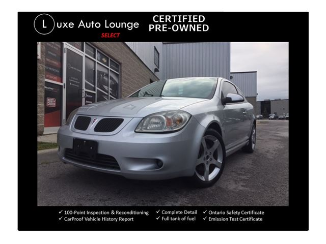 2008 Pontiac G5 GT - AUTO, SUNROOF, REMOTE START, SATELLITE RADIO, LOADED!! in Orleans, Ontario