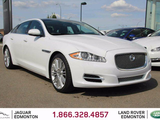 2012 JAGUAR XJ SERIES XJ L Supercharged - Local Alberta Trade In | No Accidents | 470 Horsepower | Rear Window Sunshades | Bluetooth | Blind Spot Monitor | Heated/Cooled Front/Rear Seats | Massage Seats | Suede Headliner | Heated Steering Wheel | Auto High Beam | Heated Wind in Edmonton, Alberta