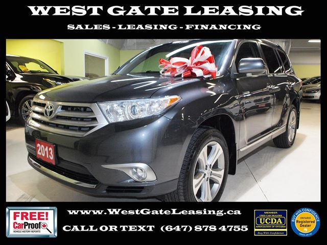 2013 TOYOTA Highlander LIMITED  NAVIGATION  CAMERA  LEATHER  in Vaughan, Ontario