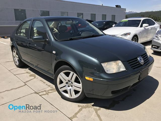 2003 VOLKSWAGEN JETTA GLX VR6 A/T Local Low Kms Leather Sunroof AC AB in Port Moody, British Columbia