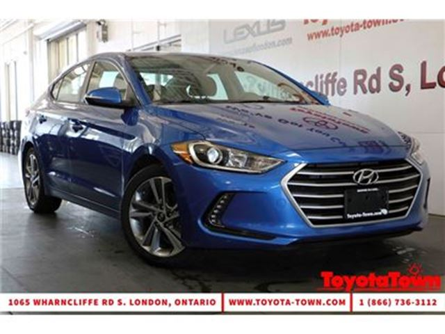 2017 HYUNDAI ELANTRA GLS MOONROOF ALLOYS PUSH BUTTON START in London, Ontario