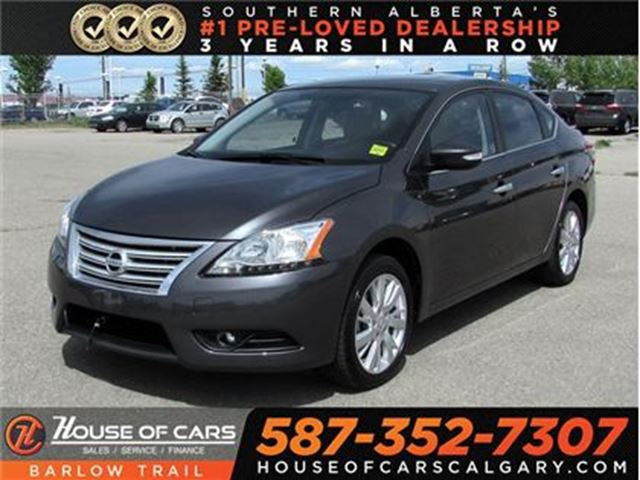 2015 NISSAN Sentra 1.8 SL / Back Up Camera / Leather / Sunroof in Calgary, Alberta