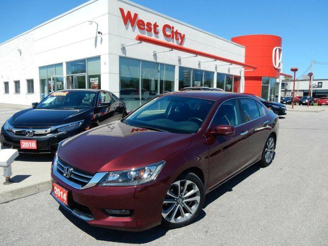 2014 HONDA Accord Sport, CHROME HANDLES,NICE RED! in Belleville, Ontario