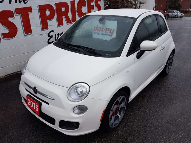2016 FIAT 500 Sport MP3 INPUT, BLUETOOTH, TOUCH SCREEN in Oshawa, Ontario