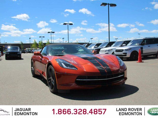 2015 Chevrolet Corvette Stingray Z51 3LT- Local One Owner Trade In | No Accidents | 460 Horsepower | BOSE Audio | Navigation | Back Up Camera | Dual Zone Climate Control with AC | Heated/Cooled Seats | Heads Up Display | 20 Inch Black Rims | Awesome Colro Combo | Factory Re in Edmonton, Alberta
